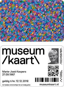 Voor- en achterkant van de nieuwe Museumkaart